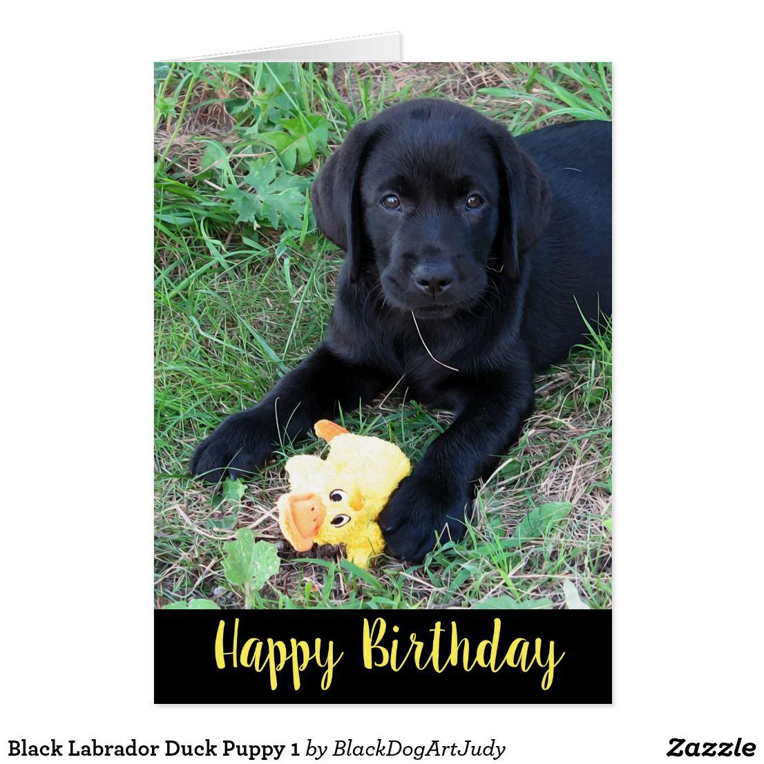 Black Labrador Dog Puppy Painting Snow Birthday Christmas Xmas Card