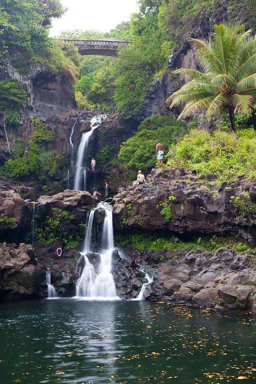 Haleakala National Park Waterfalls Waterfalls In The Oheo Gulch Haleakala National Park Haleakala National Park Beautiful Places To Visit National Parks