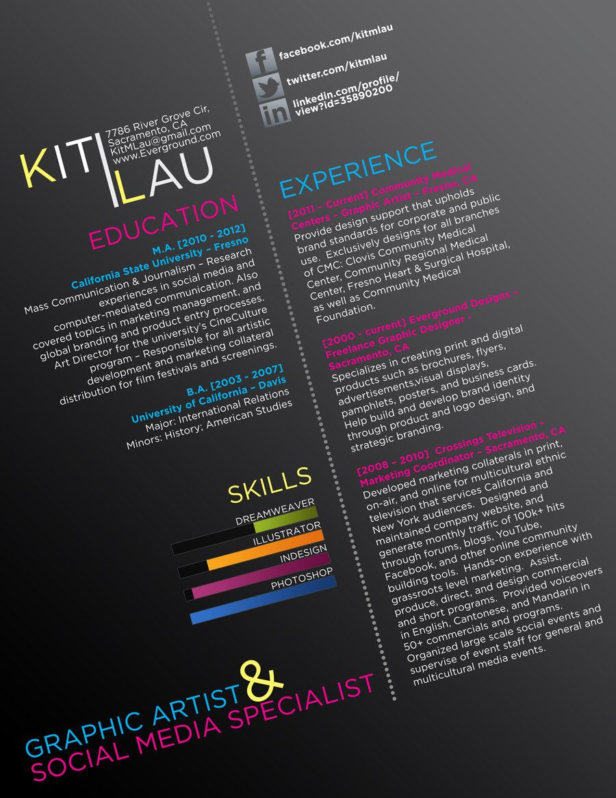 Graphic Resume Creative Cv By Ison On Deviantart Creative Cv