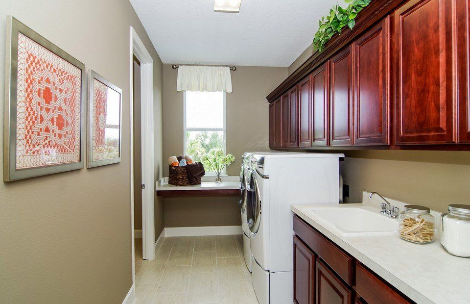 Sink in laundry room