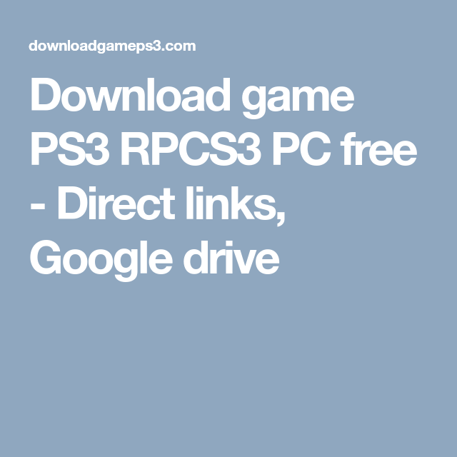 rpcs3 iso games free download