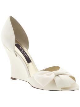 Nina Eterna Piperlime Wedge Wedding Shoes Bridal Shoes Wedding Shoe