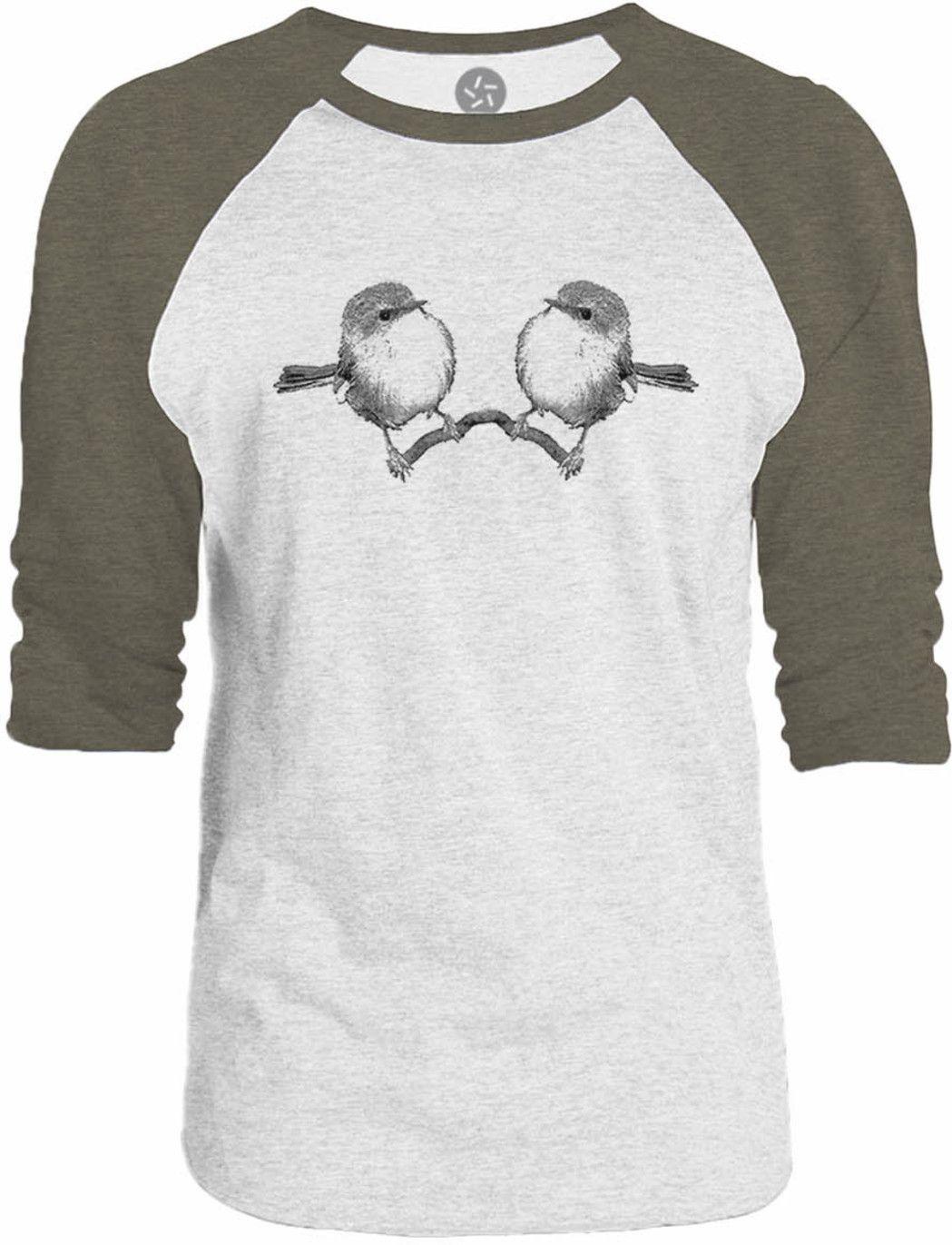 Big Texas Sparrow Mirror 3/4-Sleeve Raglan Baseball T-Shirt