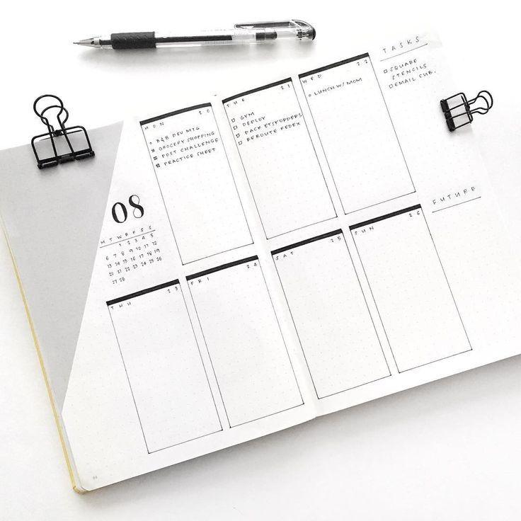 Bullet Journal • 10 Ideen für deine Weekly Layouts • But first, create! #cantaps