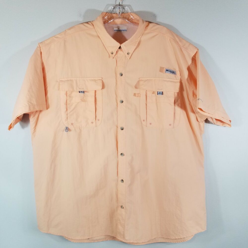 992ea99a324 Columbia PFG Omni Shade Vented Fishing Shirt Short Sleeve XXL #Columbia  #ButtonFront