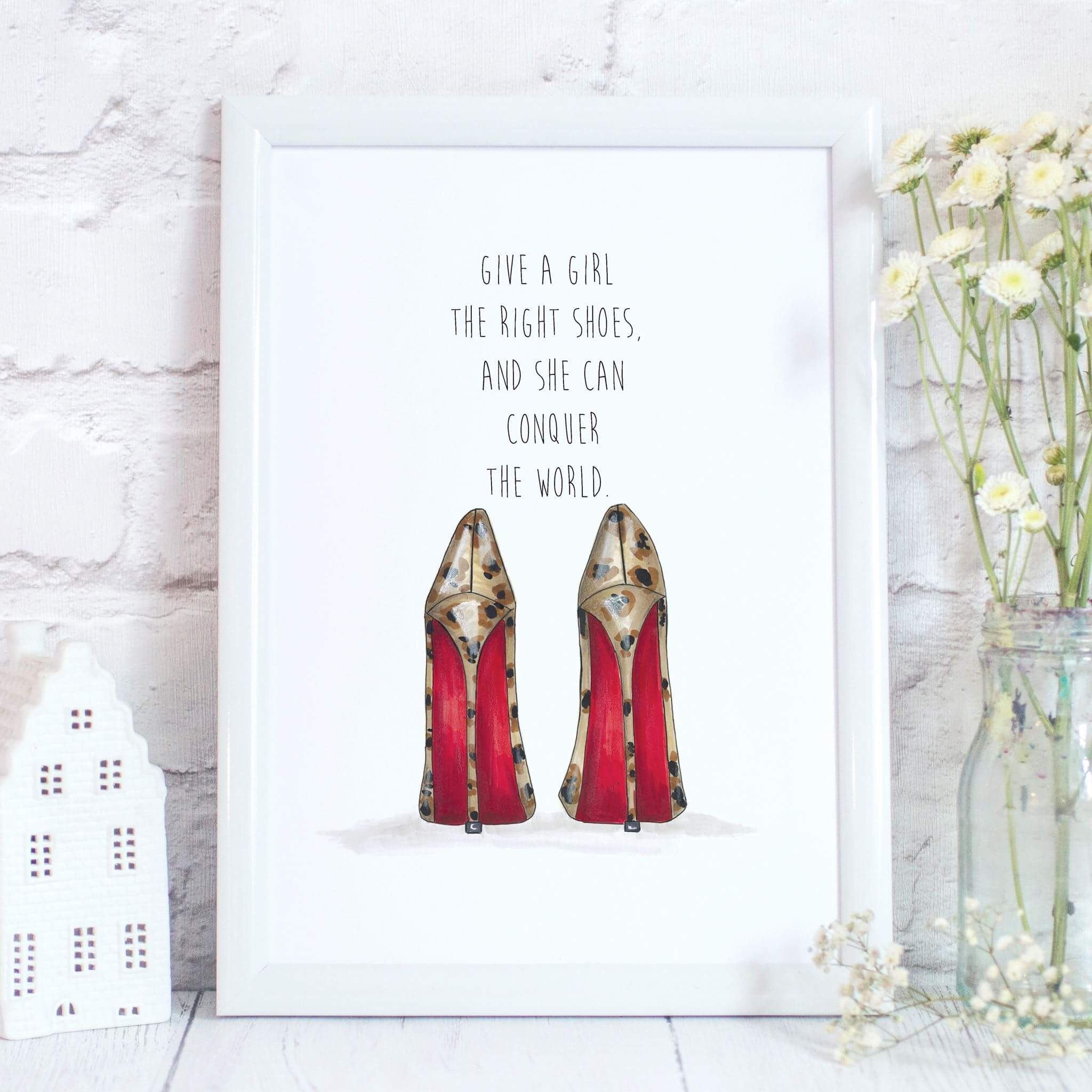 women s high heel quote print art prints pinterest rose