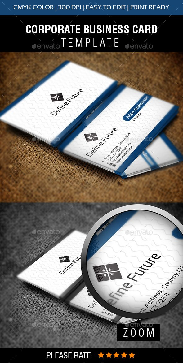 Define Future Business Card | Business cards, Card templates and ...
