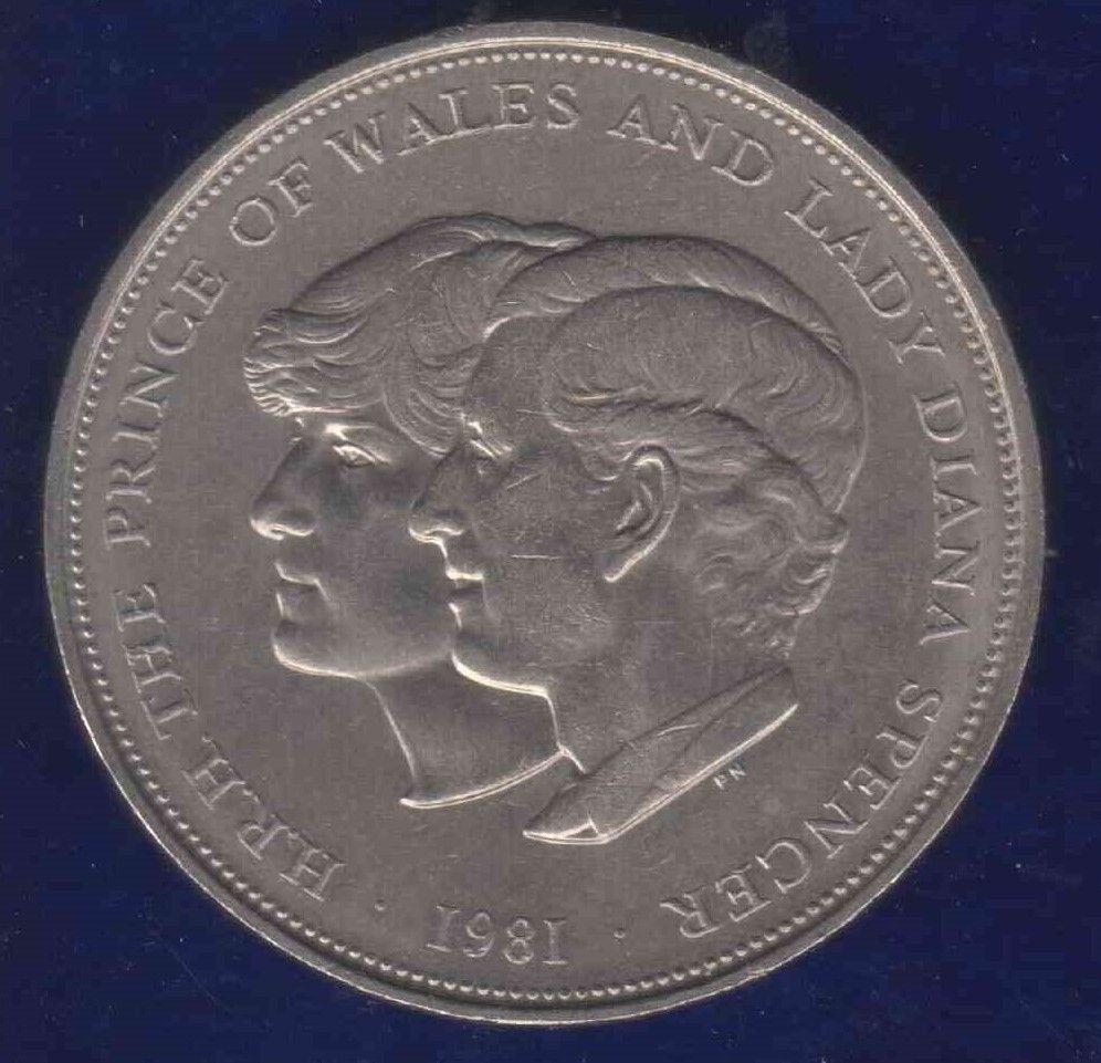 Charles Diana Royal Wedding 25 Pence UK 1981 Diana