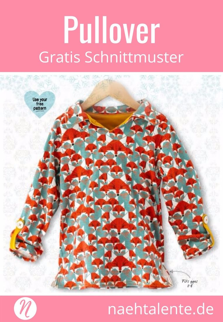 Freebook Kinderpullover für 2 9 Jahre | sewing ideas for