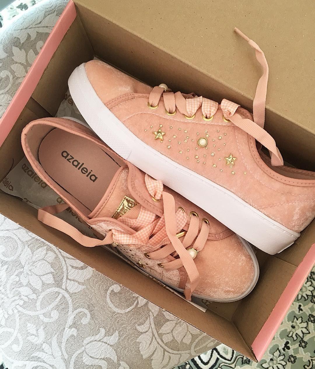 de0b4e570 veludo rosa! Agora até no tênis  azaleia  sneakers  rosevelvet ...
