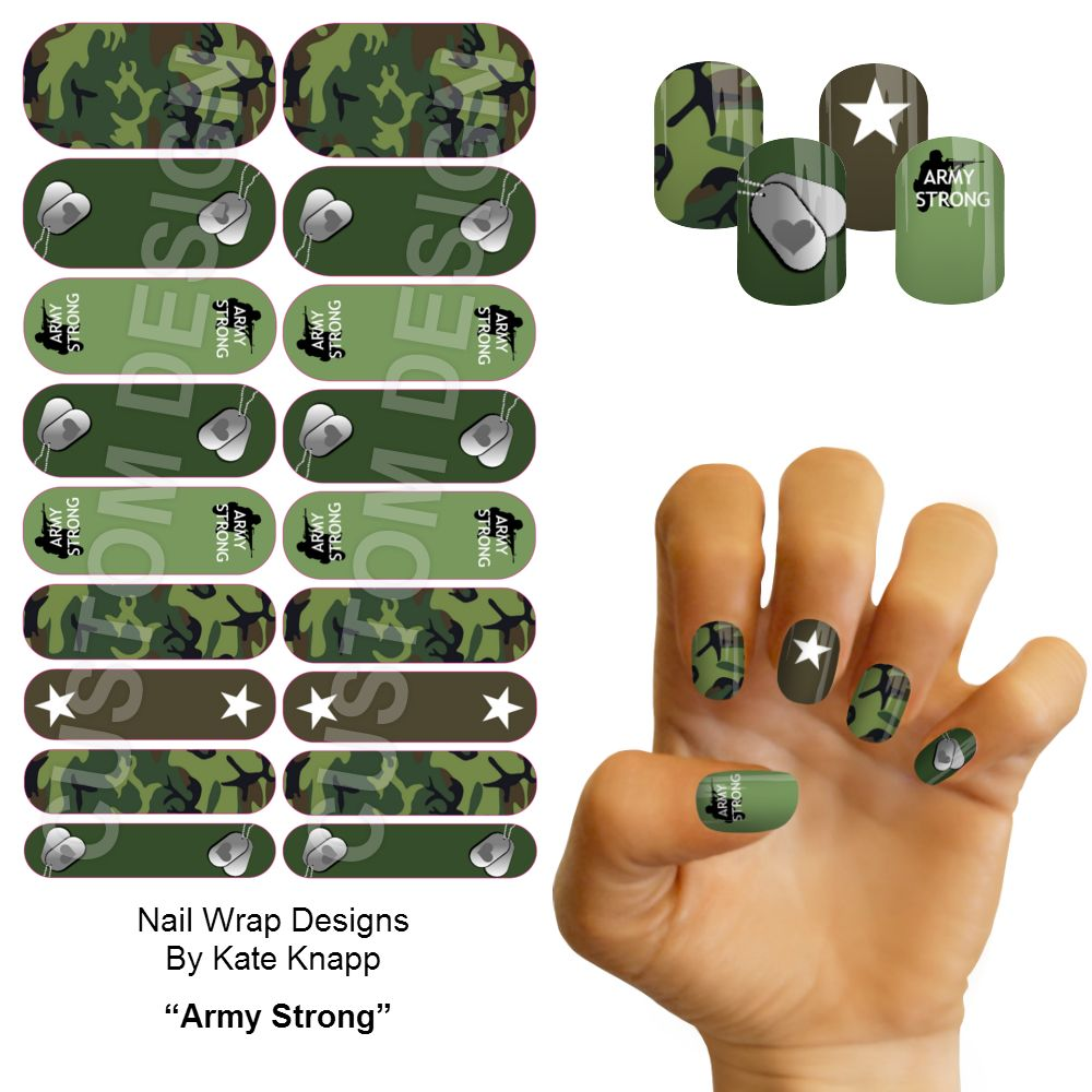 Army Strong Jamberry Nas Custom Nail Wrap Design See My Full