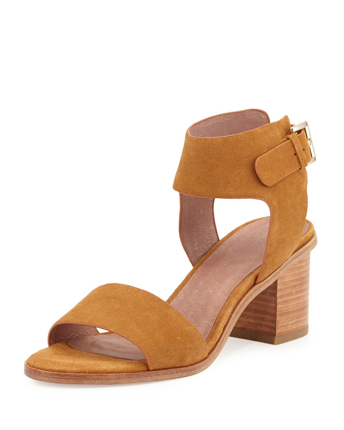 33ea38b9a2e Bea Suede Mid-Heel City Sandal Whiskey in 2019 | Outfits | Mid heel ...