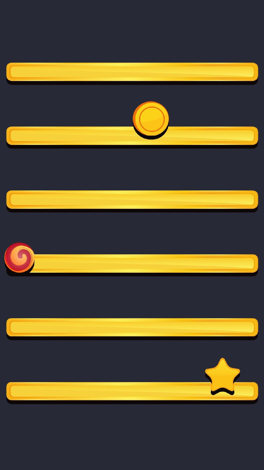 a†'a†'tap and get the free app shelves simple black yellow minimalistic star coin
