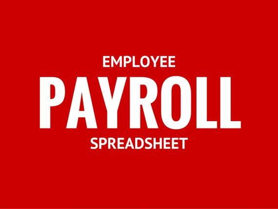 Employee Payroll Spreadsheet Template Pinterest - spreadsheet template freelance
