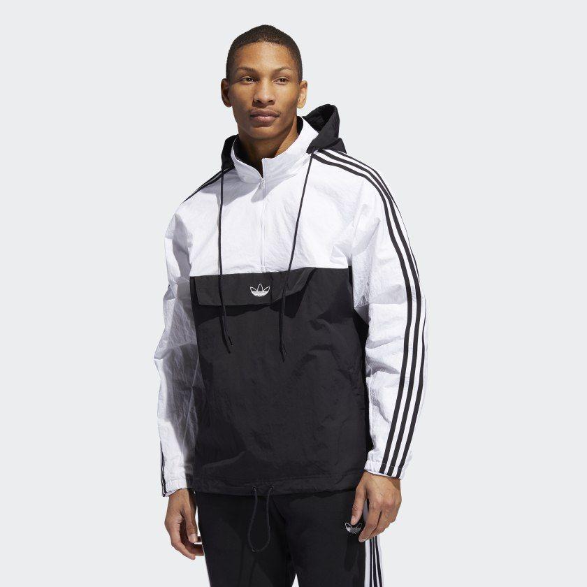 Veste Outline Half Zip Anorak Black White ED5662 | Veste