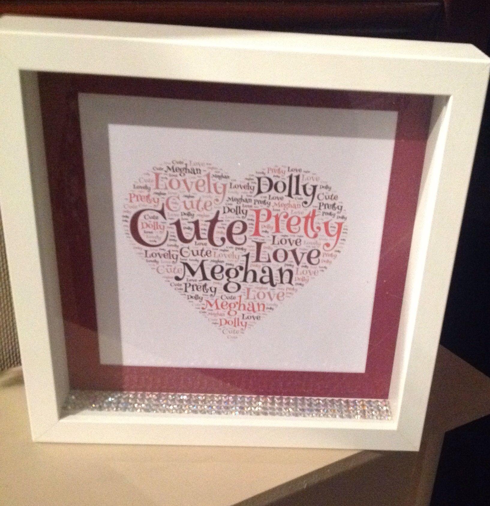 Girly frame   Frames & Banks & Stuff   Pinterest