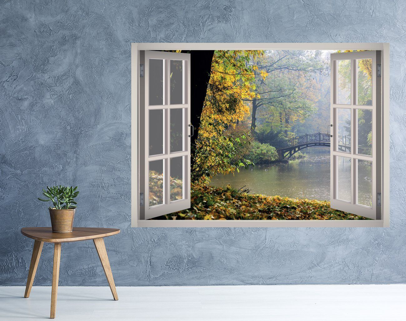Rainy Nature Lake Window 3d Wall Decal Art 3d Wall Decals Decal