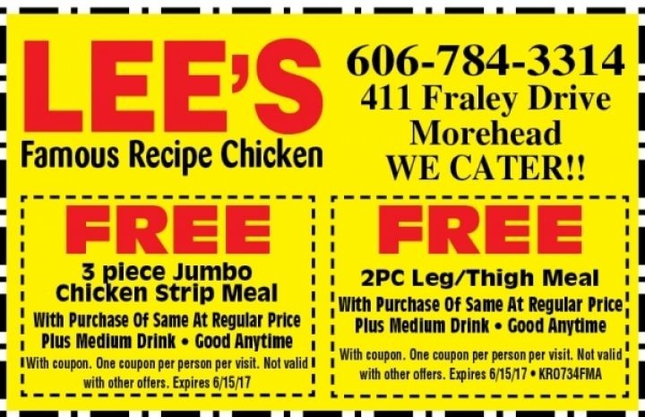 Lee S Famous Recipe Chicken Restaurant And Food Coupons