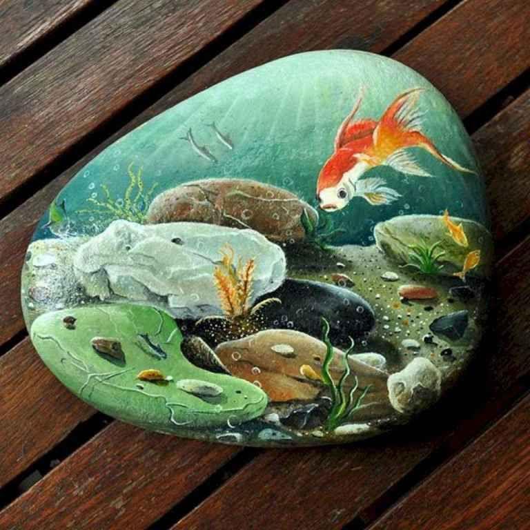 Beauty And Cute Rock Painting Ideas 39 Painted Rocks Rock Painting Art Rock Art