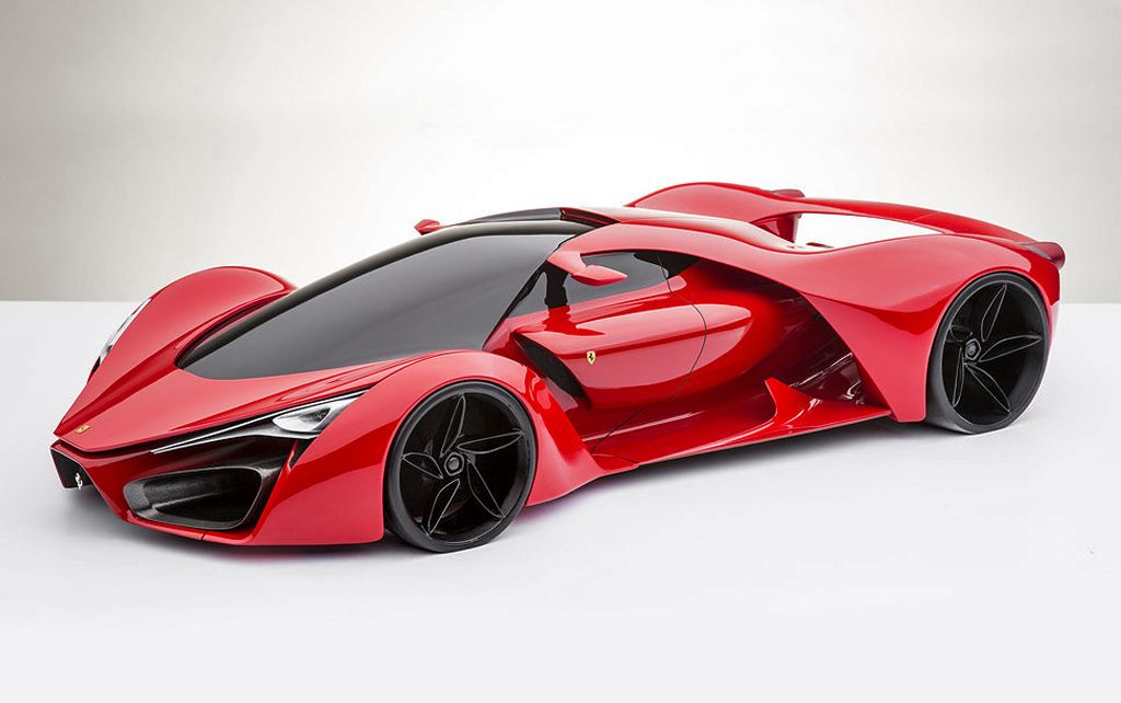 The F80 Concept Sports Car Based on Ferraris LaFerrari Model