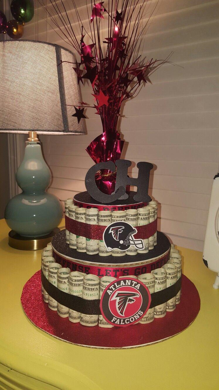 Atlanta Falcon Money Cake I Made For My Coworker Money Cake