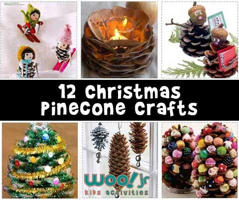 12 cute and easy christmas crafts for kids made out of Homemade christmas decorations using pine cones