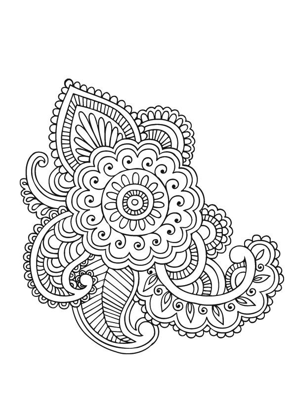 Paisley Mandala Coloring Free Coloring Pages Coloring Pages