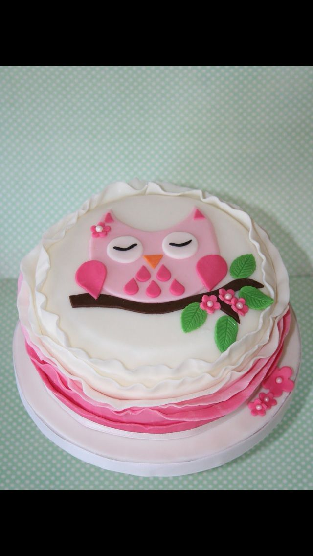 Owl Baby Shower Cake Owl Cake Birthday Shower Cakes Baby