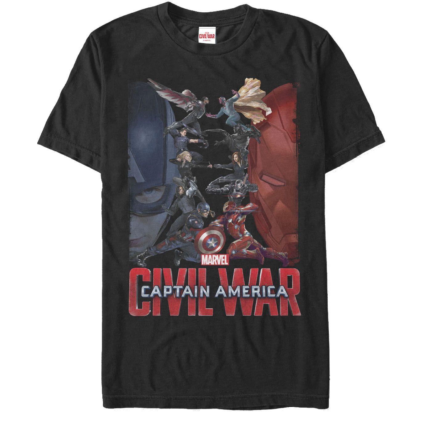 Marvel - Civil War Roster Adult Regular Fit T-Shirt
