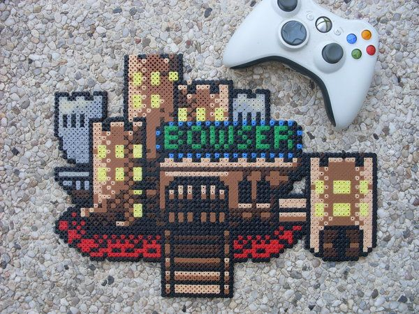 Super Mario World Bowser S Castle Perler Bead By Bigbossff On