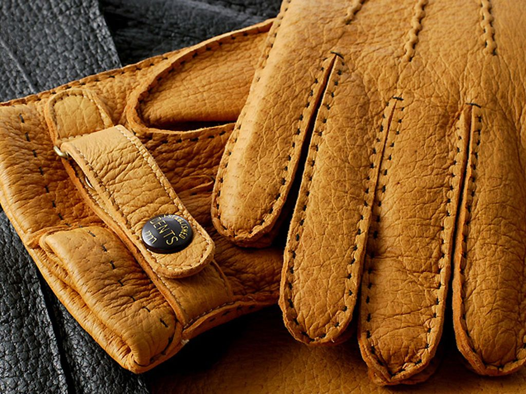Mens leather gloves dents - Dents Peccary Leather Gloves