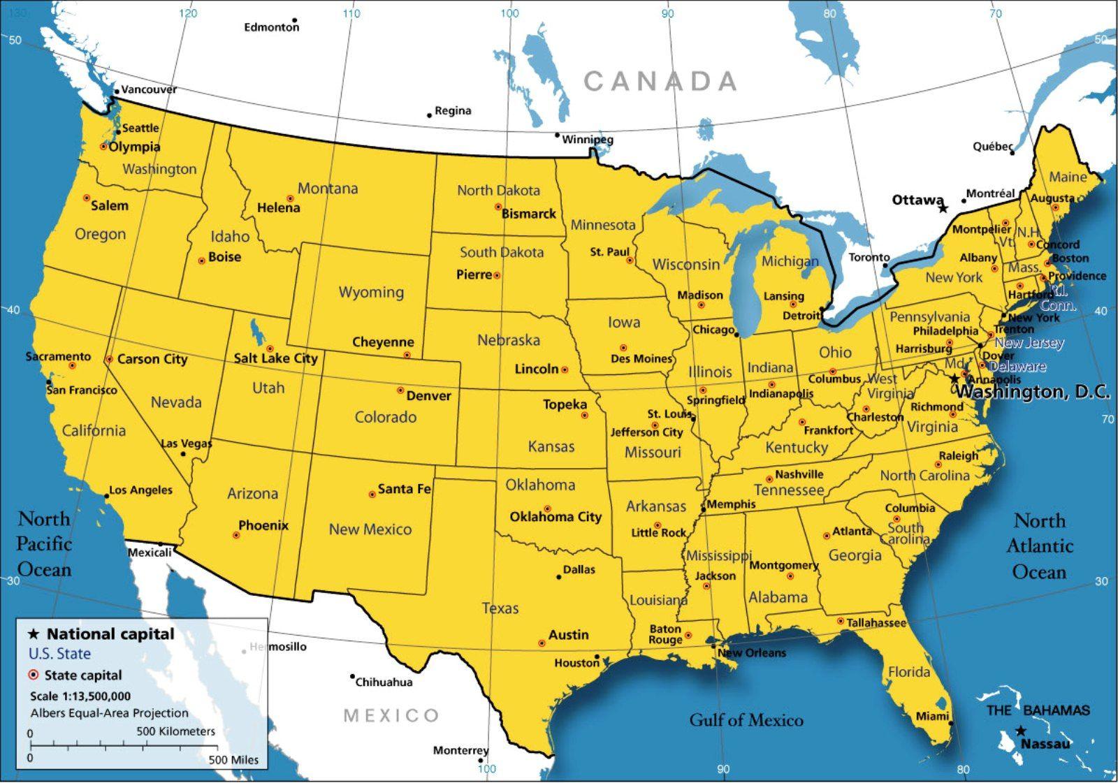 Map Of America Wallpho Com Landkarte Usa Usa Karte Usa Staaten