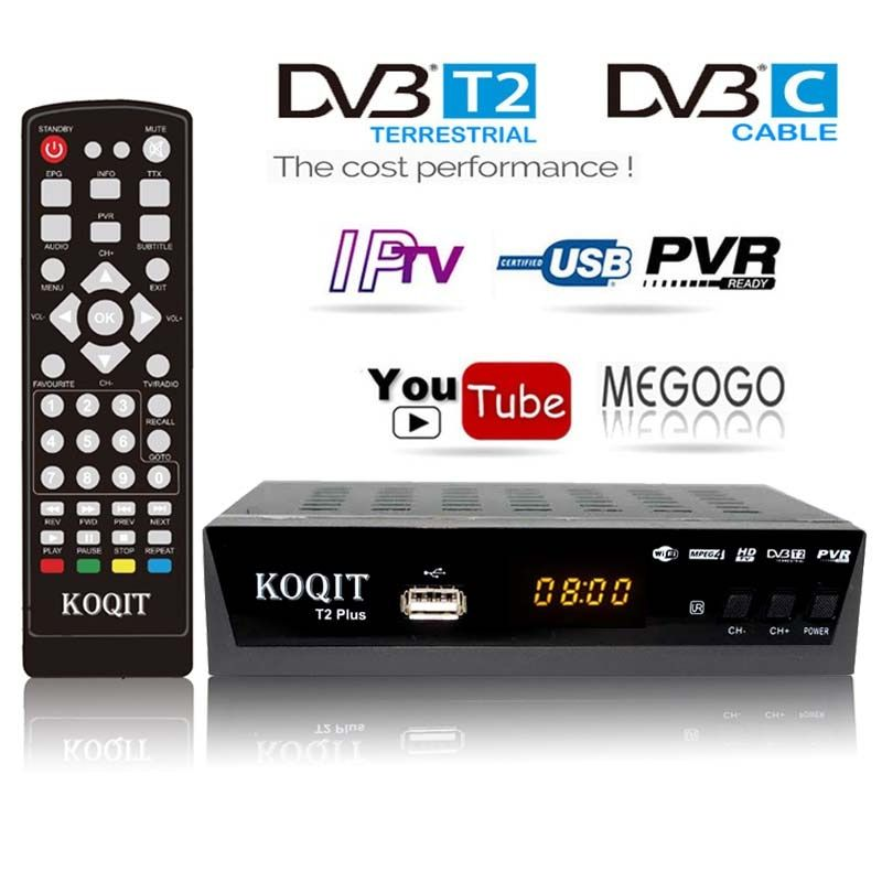 Hd Dvb C Dvb T2 Receiver Satellite Wifi Free Digital Tv Box Dvb T2 Dvbt2 Tuner Dvb C Iptv M3u Youtube Russian Manual Set Top B Control Remoto Wi Fi Antena Wifi