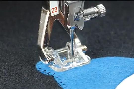 Bernina clear appliqué foot #23 accessory spotlight sewing