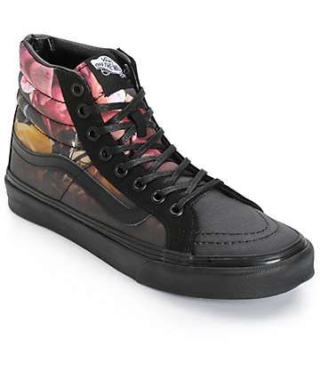 7cd52bcd91 Vans Sk8 Hi Slim Ombre Floral Shoes (Womens)