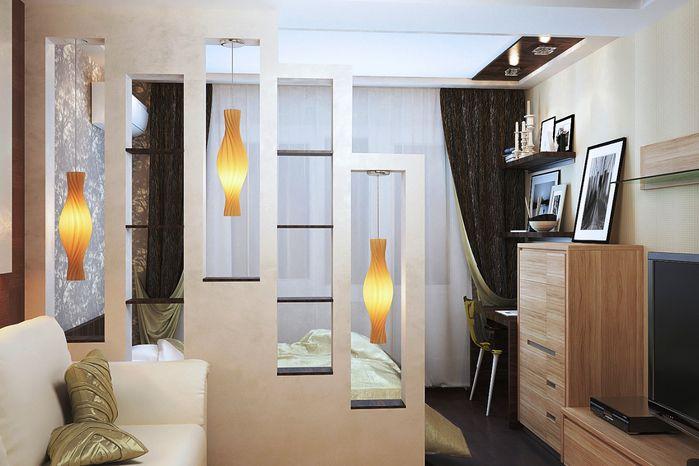 Raumteiler Schlafzimmer ~ Raumteiler schlafzimmer ideen regalwand pendelleuchten design