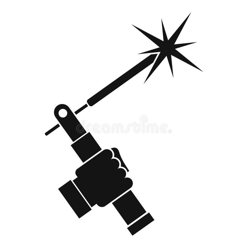 Download Mig Welding Torch In Hand Icon Simple Stock Vector Image 92648666 Welding Logo Welding Art Hands Icon