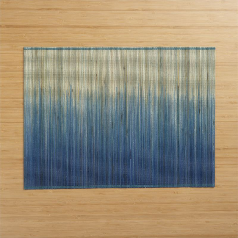 Crate Barrel Oxley Blue Placemat Reg 4 95 Clearance 1 47 With Images Blue Placemats Crate And Barrel