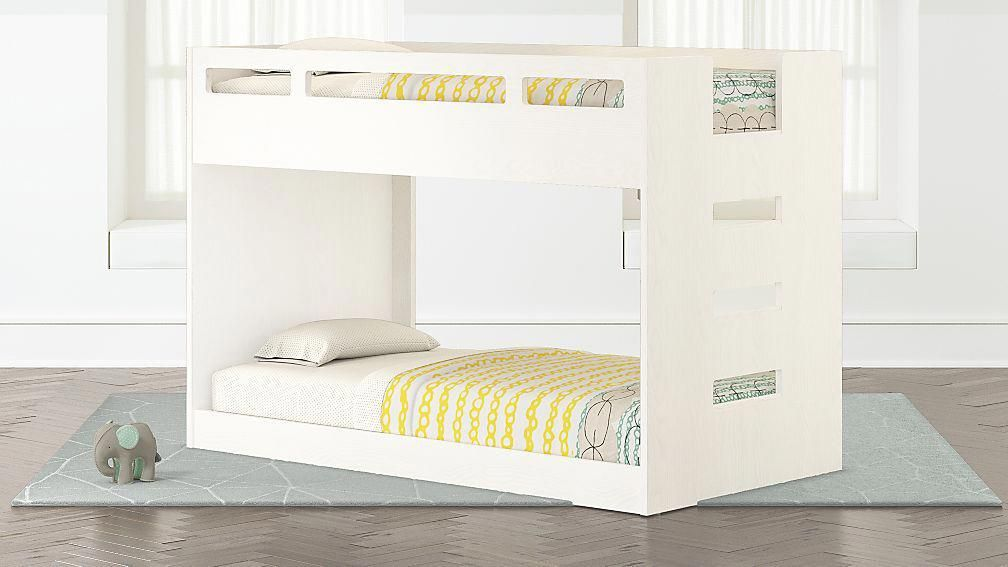 Abridged White Glaze Low Twin Bunk Bed Bunkbeddesignsspacesaving