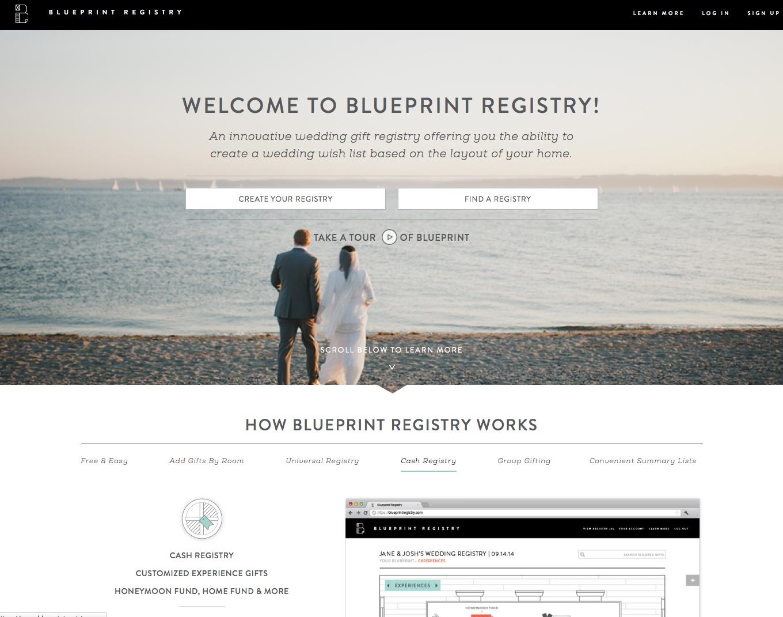 Blueprint Registry An Innovative Wedding Registry Blueprint Registry Wedding Website Free Blueprints