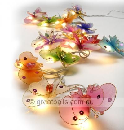 Whimsy Butterfly Fairy Lights