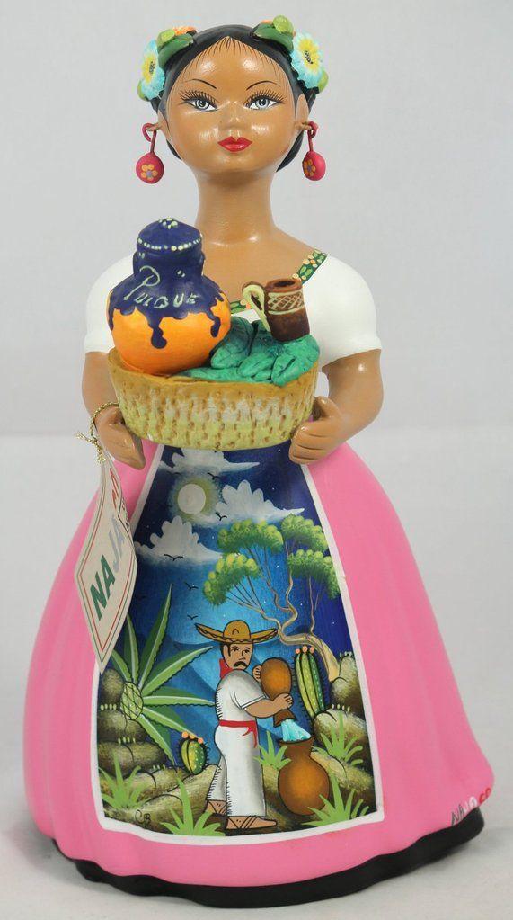 Blue NAJACO Premium Lupita Doll with Nopales//Cactus