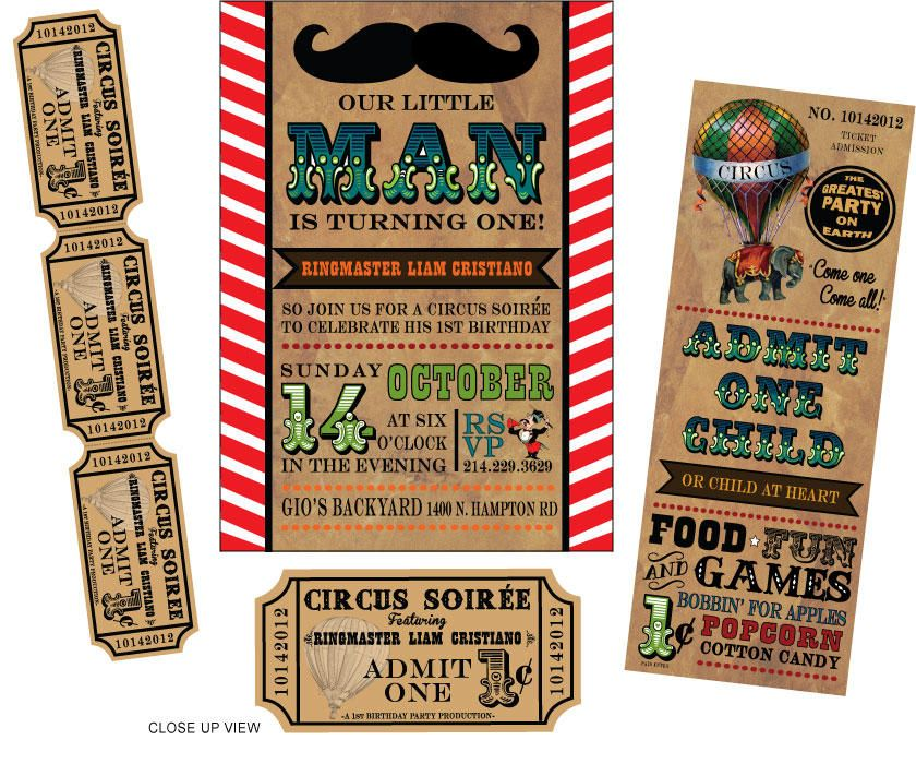 17 Best images about Circus – Circus Party Invitation