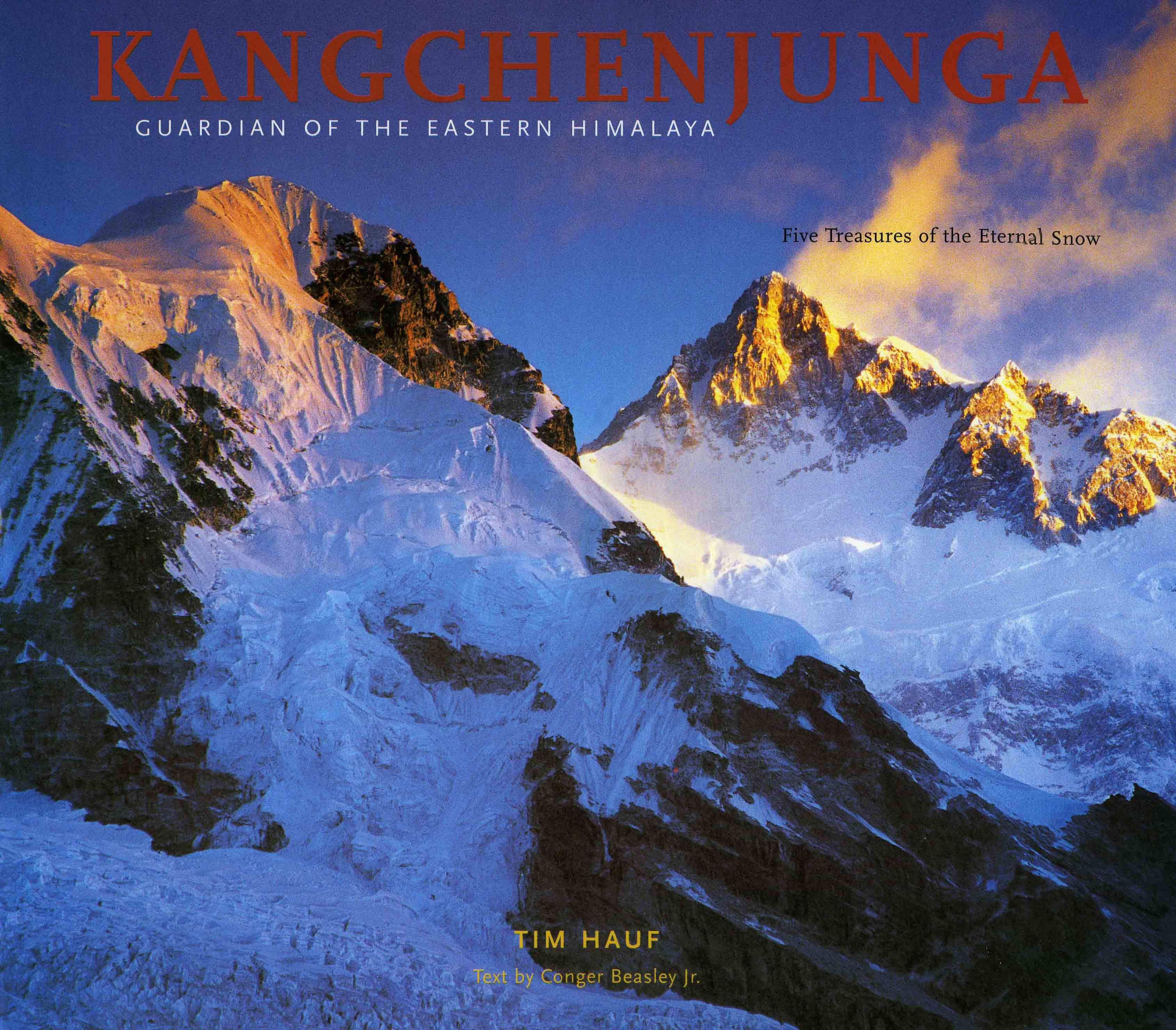 Coffee-table photography book about Kangchenjunga.  Kangchenjunga, in the eastern Himalaya, is the third highest mountain on the planet.