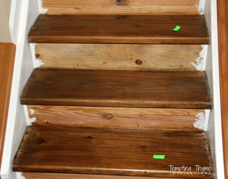 Best Staining Pine Stair Treads Interior Wood Stain Colors 400 x 300
