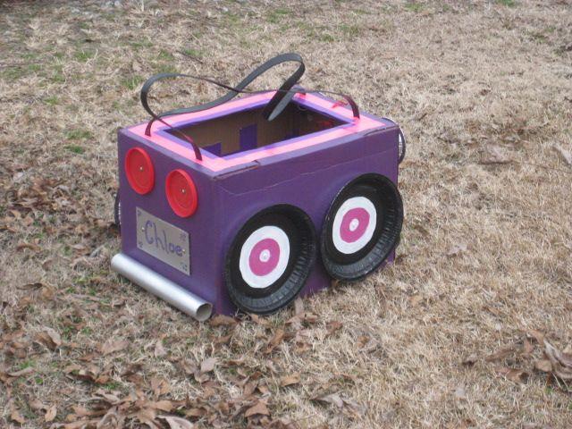 Girls Cardboard Box Car Just For Fun Pinterest Cardboard