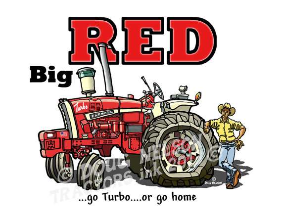 Coloring Pages Farmall Tractors. This is a quality x color print of cartooned image an IH Farmall 1206  tractor affectionately referred to by it s owner as Big RED Tractor Cartoon 8 5 x11 Color Print
