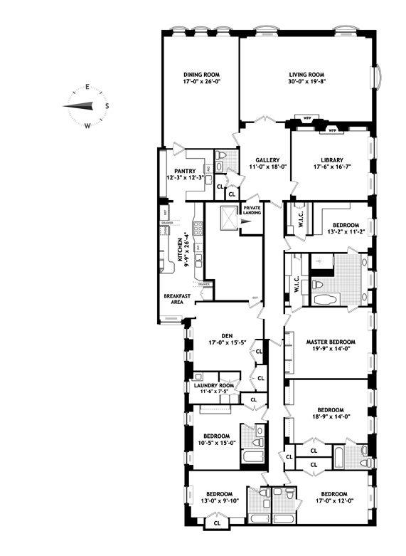 120 East End Ave 5a Co Op Apartment Sale In Yorkville Manhattan Streeteasy Luxury Floor Plans Floor Plans Apartment Floor Plans