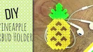 Resultado De Imagem Para Diy Earbud Holder Perler Beads Diy
