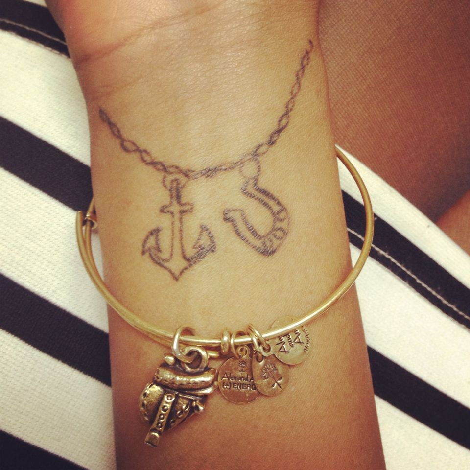 My Tattoo 3 Charm Bracelet Charm Bracelet Tattoo Tattoo Bracelet Anklet Tattoos